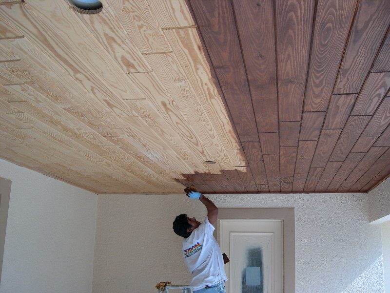 Staining The Porch Ceiling